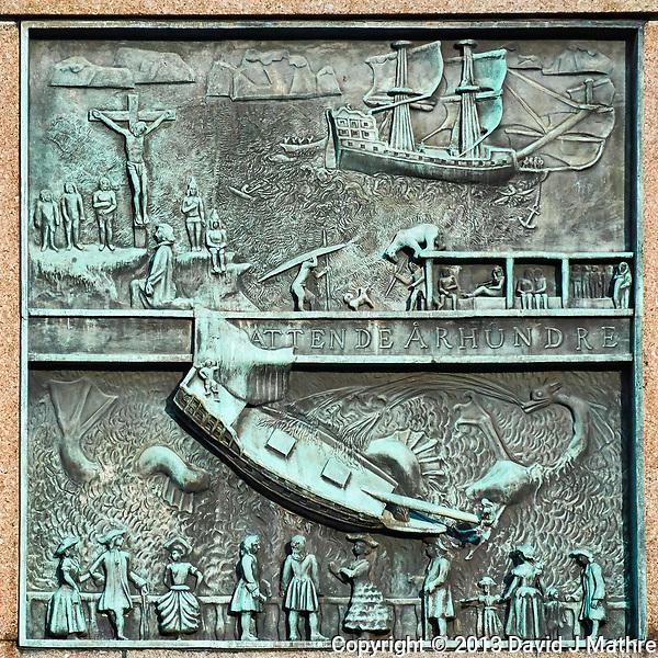 Seaman's Monument (1800's). Image taken with a Nikon 1 V2 camera and 10-110 mm lens. (David J Mathre)