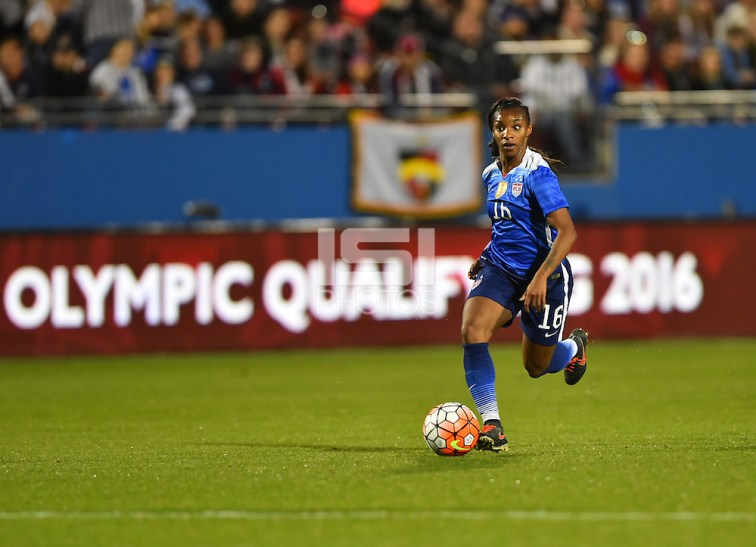 Crystal Dunn-- Frisco, TX. - The USWNT defeated Puerto Rico 10-0 at the CONCACAF Women's Olympic Qualifying Tournament in Toyota Stadium.  (Brad Smith/isiphotos.com)