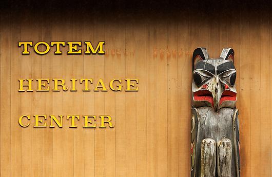 Totem pole outside Totem Heritage Center, Ketchikan, Alaska (Copyright Brad Mitchell Photography.9601 Wall St.Snohomish, WA 98296.USA.425-418-7279.brad@bradmitchellphoto.com)