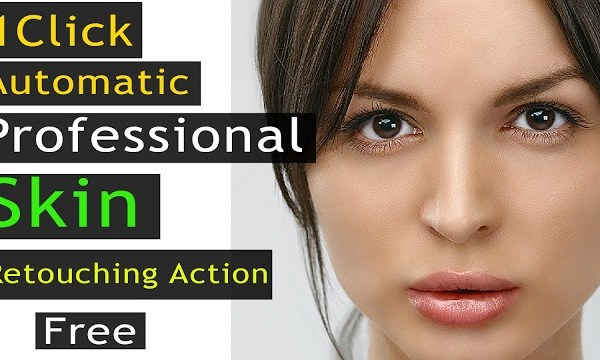 1 Click Automatic Professional Skin Retouching, Free Photoshop Action
