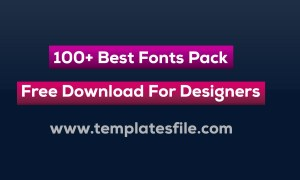 100+ Best Fonts Pack Free Download For Designers