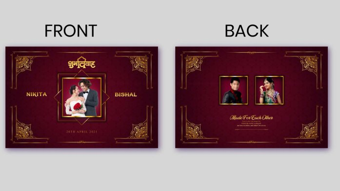 Luxury Wedding Album Cover PSD 2021 VOL 1