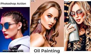 New Oil Painting Photoshop Action 2021 Free Download