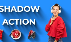 3D Flat Long Shadow Free Photoshop Action