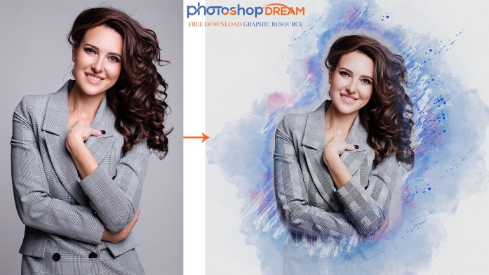 watercolor photoshop action free download