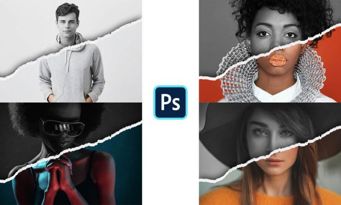 Torn Paper Edges Photo Effect PSD Free Download