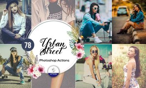 Awesome 78 Urban Street Photoshop Actions Free Download