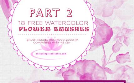 Free Watercolor Flower Brushes | Gardening: Flower and