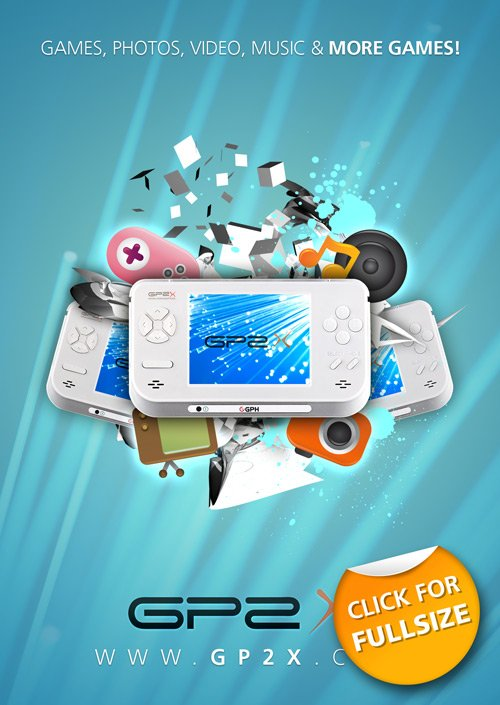 Designing A Portable Gaming Device Poster Photoshop Lady