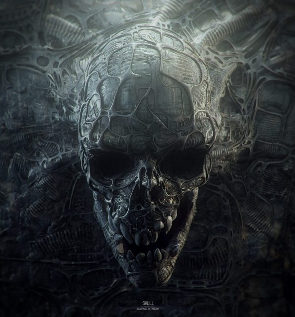 Dark Gothic Art Skulls