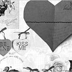 Dia de San Valentin tarjeta de cepillos