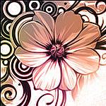 Los vectores de flores pinceles