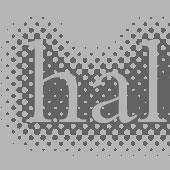 Halftone text