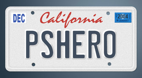License plate text effect