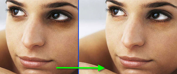 كيفية إزالة كدمات تحت العينين في فوتوشوب