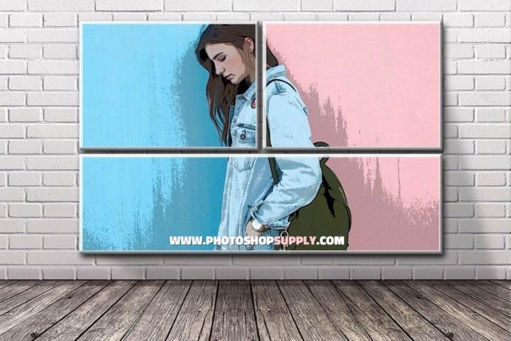 Brick Wall Poster Mockup