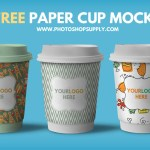 Plastic Cup Mockup Free PSD