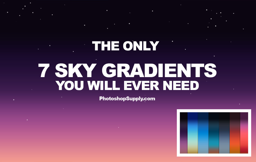 night and day sky gradients phtooshop