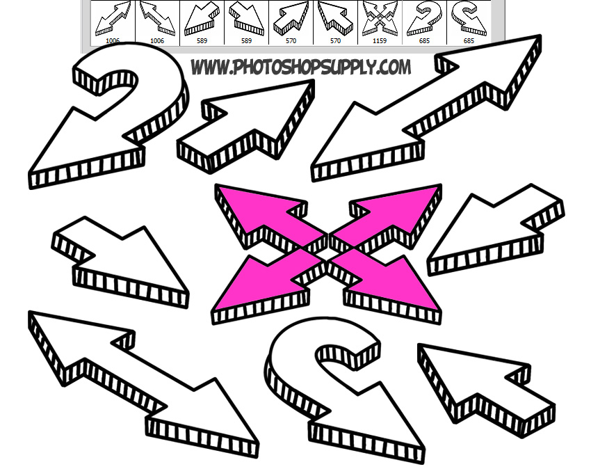 27 doodle arrow photoshop brushes shapes and png photoshop supply hand drawn doodle arrow brushes for photoshop free ccuart Image collections