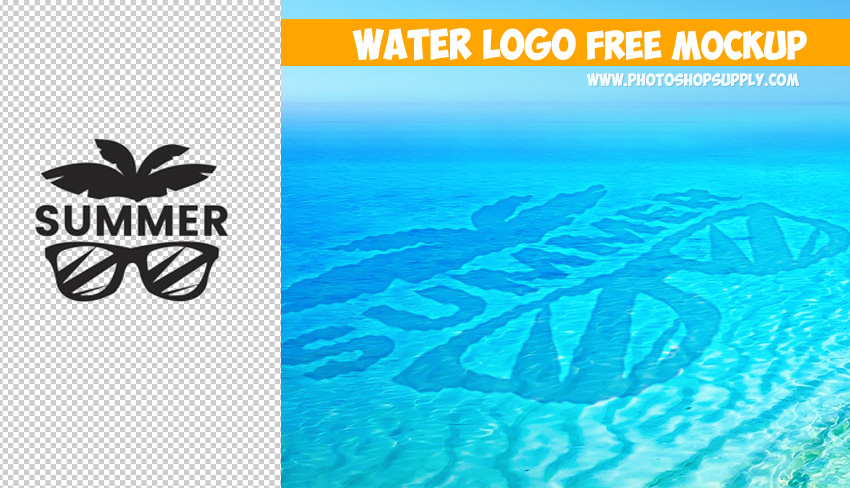 Water Effect Photoshop Free Mockup