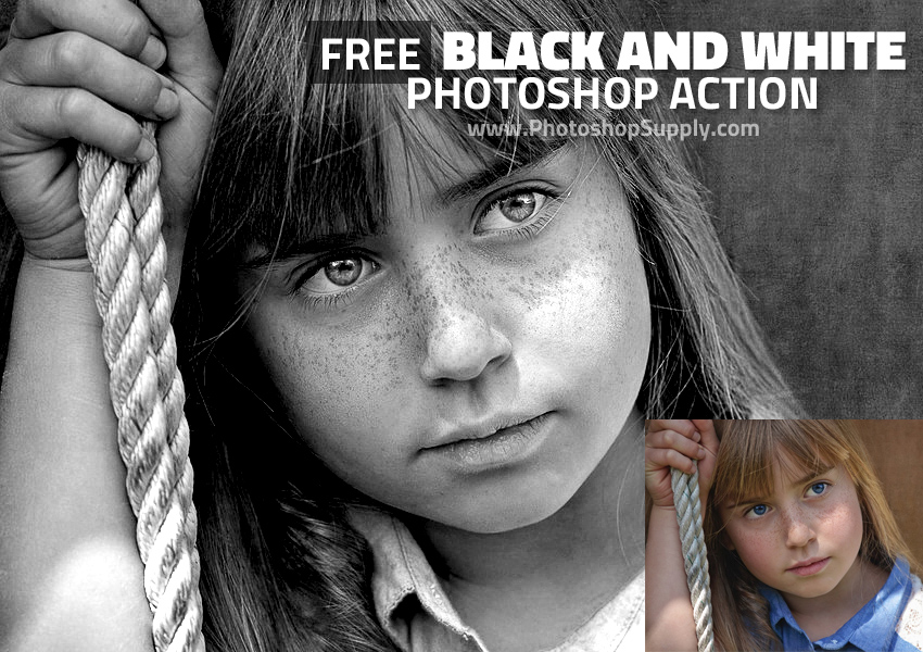 Free Black and White Photoshop Action