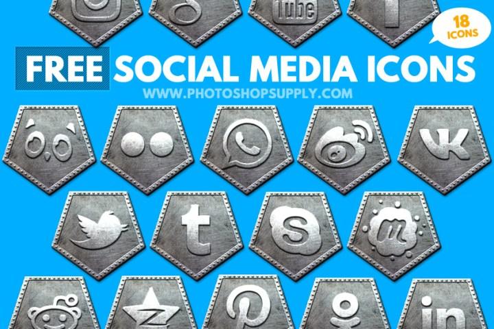 Free Social Media Icons 2018 Metal