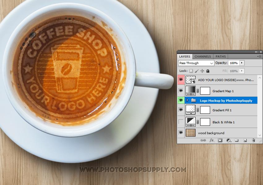 Latte Art Photoshop Free PSD