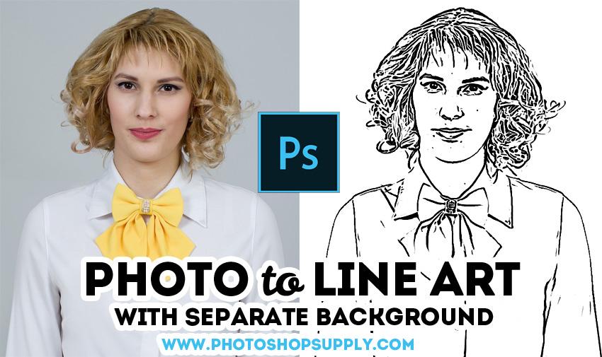 Free Line Art Photoshop Action Photoshop Supply