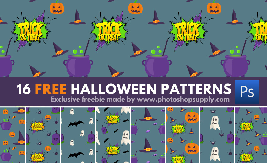 Free Patterns for Photoshop With Halloween Shapes