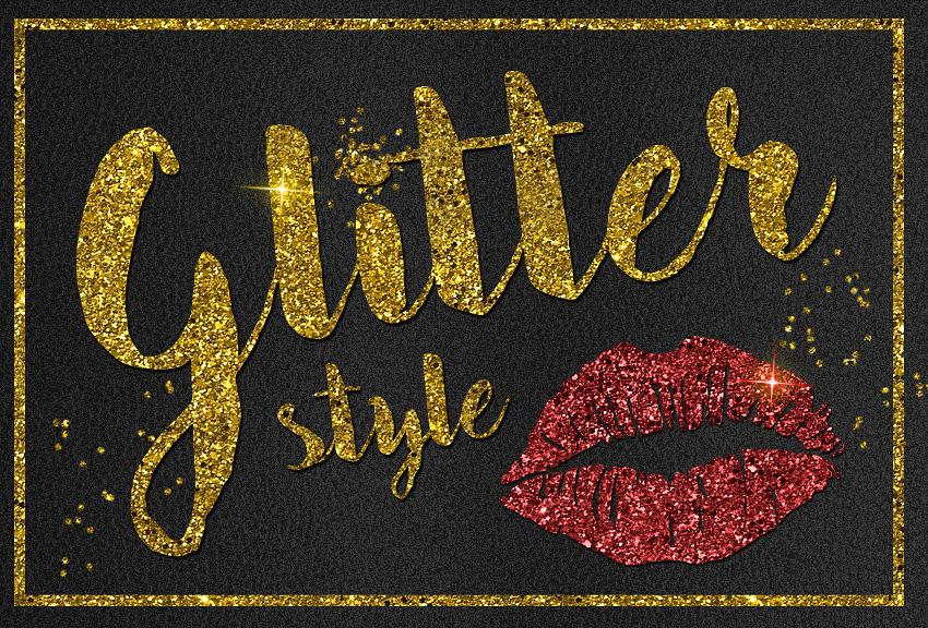 Photoshop Glitter Style