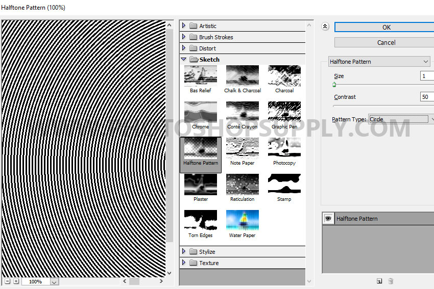 halftone pattern in photoshop