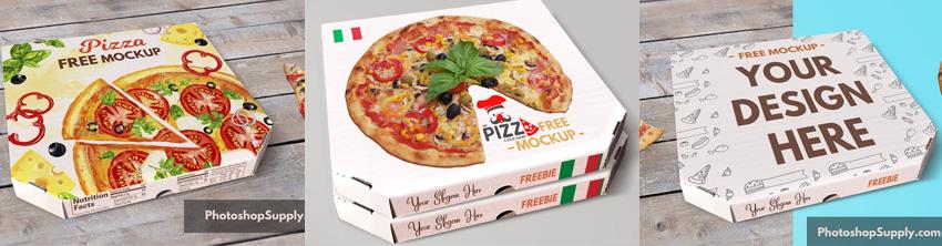 Pizza Box Mockup Freebie