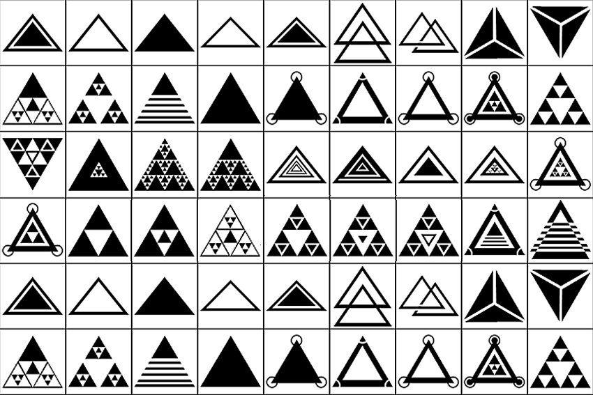 Triangle Shapes for Photoshop