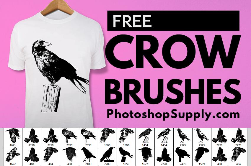 FREE) Crow Brushes - Photoshop Supply