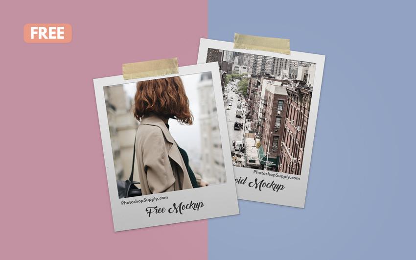 Polaroid Mockup Free
