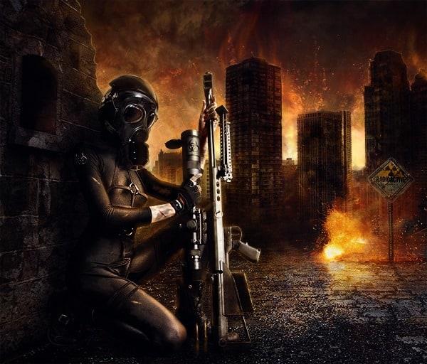 Create a Fiery City War Scene in Photoshop - Photoshop Tutorials