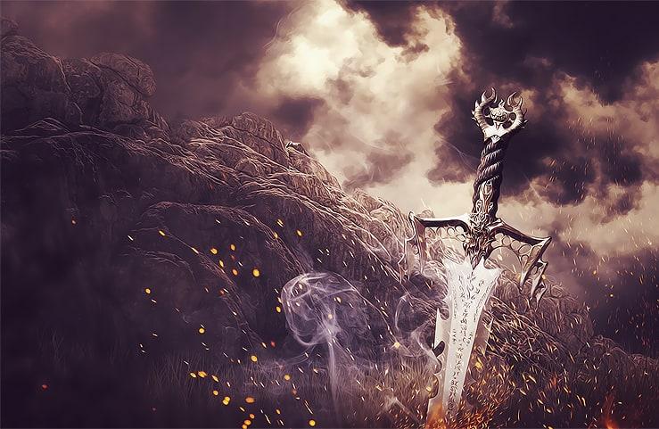 Tạo Phong cách siêu thực và Medieval một thanh Battlefield trong Photoshop