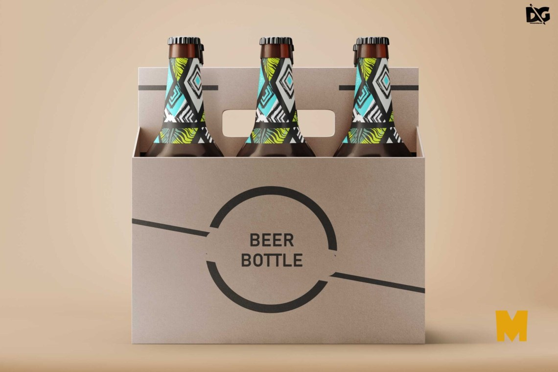 Download Free Beer Bottle PSD Label Mockup
