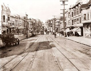 Vintage Photograph of Castro Street between 18th & 19th Street