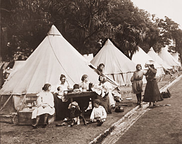 Tent City after the 1906 Earthquake Historical Photos of