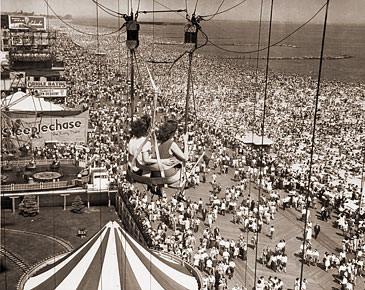 Parque de atracciones en Coney Island en 1941