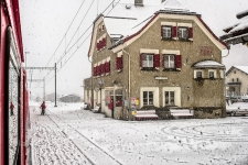 This is Zernez in Engadin, at the beginning of the trip, and before starting to climb.