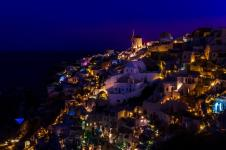 View of Oia just before dawn