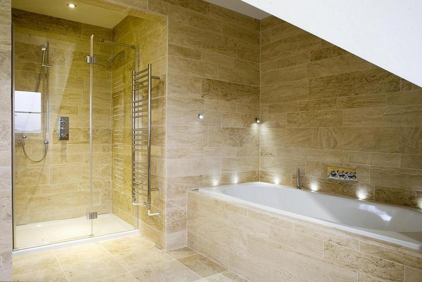 Photo salle de bain en pierre naturelle