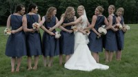 Bride and Bridesmaids in Formals - Vermont Wedding and ...