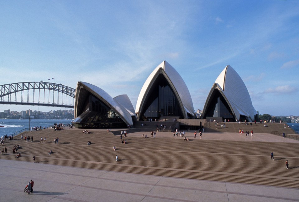 Sydney Opera House. Nikon F3, Nikkor 20mm f/4 ai, Kodak Ektachrome E100