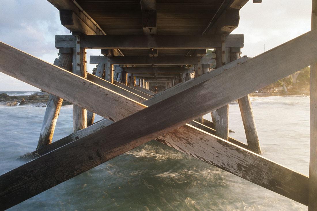 Under the bridge La Perouse, Nikon F3, Nikkor 35mm f/2.8 ai, Kodak Ektachrome E100