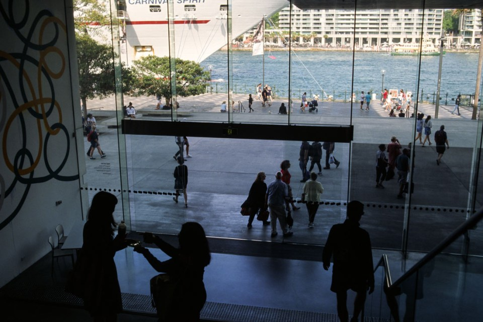 Circular Quay, Sydney. Nikon F3, Nikkor 35mm f/2.8 ai, Kodak Ektachrome E100