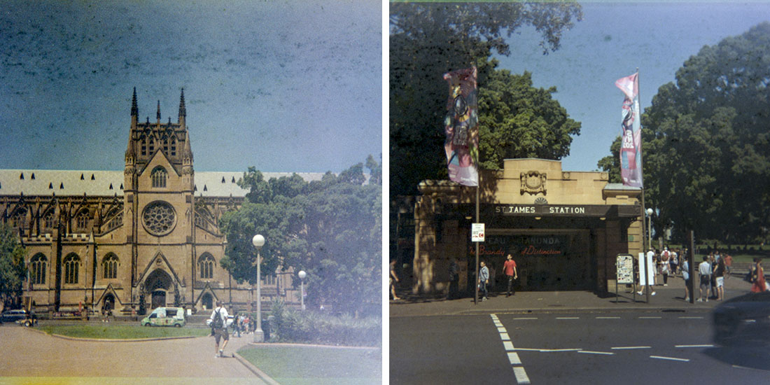 St. Marys and St. James, Kodak Instamatic 133, Fujicolor Super HGII 100 (expired 1995)