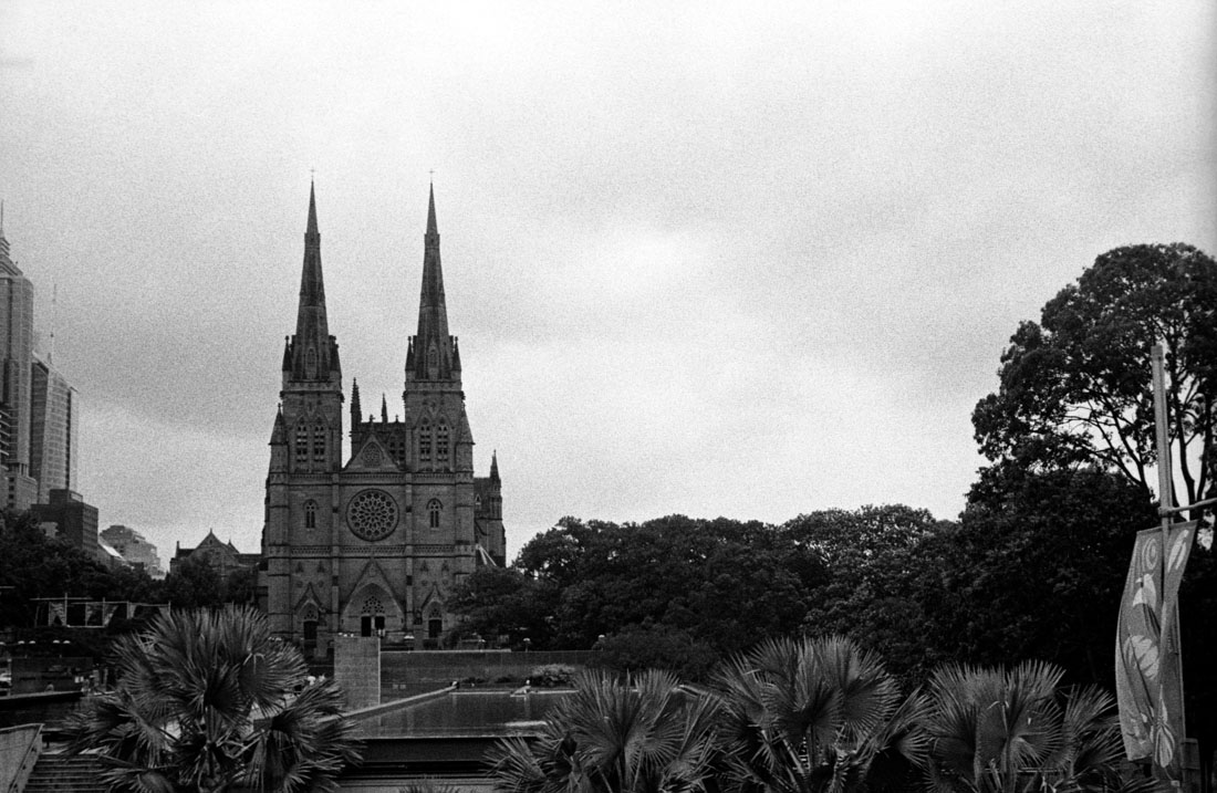 St. Mary's Cathedral, Canon Sure Shot 70 Zoom, Kodak Tri-X 400 at EI 800